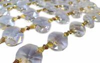 1 Yard Clear Chandelier Crystals Garland Asfour 30% Lead Crystal Octagon Prisms