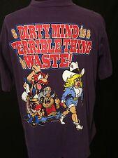 VTG 90s Men's size L T Shirt Comedy Cowboy Scene By Sunsport Adults