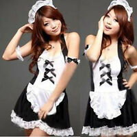 Sexy Lingerie Women French Maid Cosplay Servant Fancy Dress