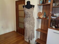 RENATO NUCCI FLOWING BRONZE LACE CROPPED TANK AND TRUMPET SKIRT SET SUIT-IT 38