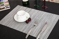 NEU Tischset Platzset Platzmatte Tischmatte Platz Decke Platzdeckchen Matte Grau