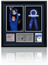 Large RON HARRIS Hand Signed CHELSEA 1970 FA Cup Final Presntn. Photo Proof COA