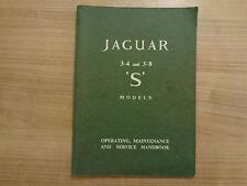 Jaguar S Type 3.4/3.8 Owners Handbook Manual