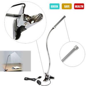 Flexible USB Clip-on Table Lamp LED Clamp Reading/Bed/Laptop/Desk Light US