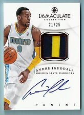 ANDRE IGUODALA 2012/13 PANINI IMMACULATE 3 COLOR PATCH AUTOGRAPH AUTO /25