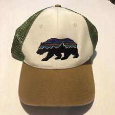 ae9fae38 Patagonia Trucker Hat Bear Two Tone Mesh Adjustable Snapback Men's EUC