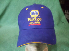 """Napa """"Ridge Auto Parts""""  PRE-owned BASEBALL HAT: ONE SIZE FITS ALL  blue"""