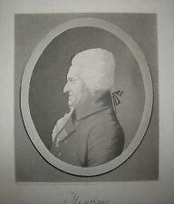 Portrait au PHYSIONOTRACE par QUENEDEY - Portrait de KREUTZER - 1809 - Gravure