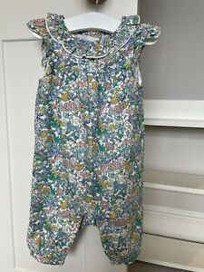 M&S Floral Baby Girl Romper Suit 3-6 Months