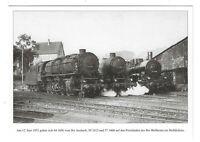 AK, Heilbronn, Bahngelände, Gleise, Lok 44 1656, 50 2412, 57 1606, Häuser