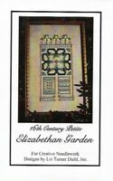 16th Century Petite Elizabethan Garden Cross Stitch Kit Liz Turner Diehl w Floss