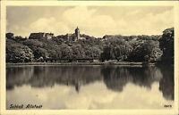 Allstedt Sachsen Anhalt DDR s/w AK 1953 Blick über den Fluß auf Schloss Allstedt