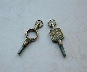 Antique Pocket Watch Keys, A Sattele 335 High St Lincoln.