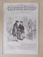 ANTIQUE VICTORIAN THE LEISURE HOUR MAGAZINE PAPER No 1159 MARCH 14th 1874