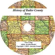 1914 History & Genealogy of BUTLER COUNTY IOWA Allison Shell Rock Greene  IA