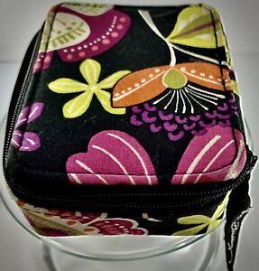 VERA BRADLEY Pill Case (Travel, Box, Vitamins, luggage) (black, green, purple)