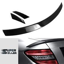 LA STOCK Carbon For Mercedes BENZ C-Class W204 C-Class B Look Trunk Spoiler C350