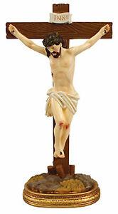 "JESUS CHRIST STANDING CRUCIFIX CROSS 5"" Catholic Gift Boxed"