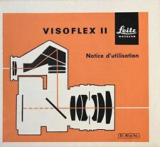 Manuel d'utilisation dépliant pour Visoflex II par Leitz (Fr)