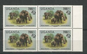 UGANDA 1983 700/- Elephant. Overprinted 19th UPU Congress Hamburg + logo. RARE!!