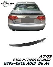 Carbon Fiber Trunk Spoiler Lip For 09-12 Audi A4 B8 / A4 Quattro Sedan Type A