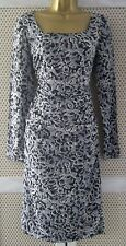 STUNNING L K BENNETT 'Prinia'  WIGGLE PENCIL BLACK/ WHITE DRESS size 10/USA 6