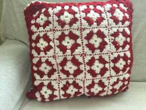 Used red hand maid pillow