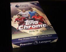 Topps Chrome Premier League EPL Fußball 2018/19 Hobby Box