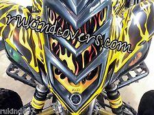 NEW GREEN Eyes YAMAHA RAPTOR 660 HEADLIGHT COVERS USA TRACKING RUKIND COVERS