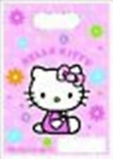 Hello Kitty Flower Party - 8 Plastic Loot Bags - Birthday - FREE POSTAGE IN UK