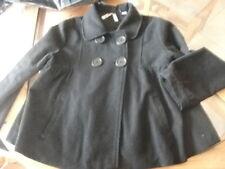 superbe caban noir  manteau court  10 ans