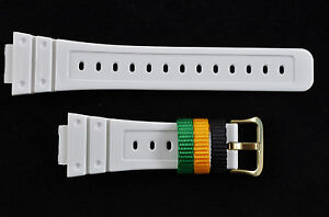 Genuine Casio  Watch Band Strap SHINY WHITE Rubber DW-6900R-7V