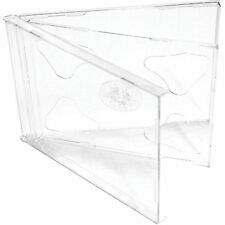 100 X CD / DVD Double Jewel Cases 10.4mm for 2 Disc with Clear Tray Pack of 100