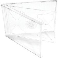 200x CD/DVD Doppio Custodie 10.4mm per 2 Disc con trasparente Supporto