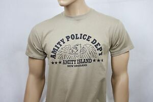 Jaws (1975) inspired mens film t-shirt - Amity Police Dept.