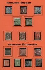 NOVA SCOTIA/BRUNSWICK: Collection of Examples - Presumed Reprints - Page (32941)