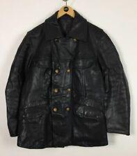 Mens Leather Jacket / Medium / Striwa / Police / 1980's / Biker