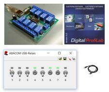USB-Relais de contrôle, huit canaux, ensemble complet