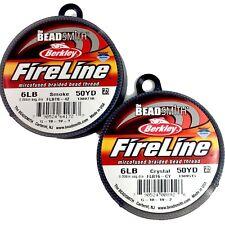 FireLine Beading Thread Cord Beadsmith making 4LB 6LB 8LB Crystal Smoke 50 yard