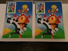 1998 Usps 32 Cent Postage Stamp Featuring Sylvester and Tweety Bird. Two count.