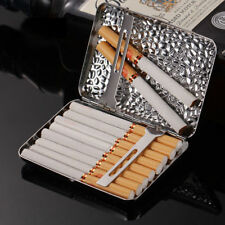 Men Cigarette Casket Stainless Steel Vintage Portable Tobacco 16 Cigarettes Box