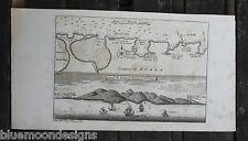 Bay of Sierra Leone Burré Bureh Africa Valentijn Original copper engraving 1726