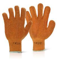 CRISS CROSS Work Safety Gloves Orange 10 Pairs One Size