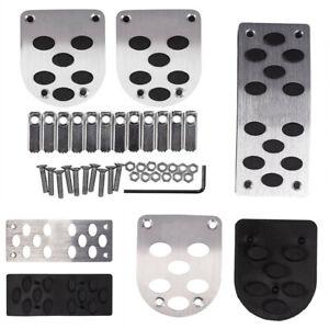 3Pcs Manual Gear Transmission Pedals Pads Car Brake Metal Pedal Non-Slip Covers
