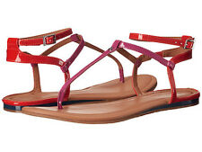 NWOB $70 Calvin Klein Haubrey Flat Casual Sandal Shoes Size9.5 Navy Pink Orange