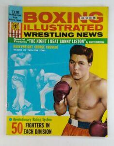 Boxing Illustrated Wrestling News Magazine Jan 1964 Sonny Liston George Chuvalo