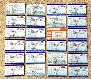 24 Different 1996 California Angels Ticket Stubs: Dodgers, Yankees, Red Sox ++++