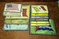 Lot of (12) Vintage 1900's Country Flags Tobacco Cigar Premium Felt Blankets