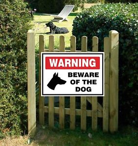 WARNING SIGN - Beware of the Dog Sign for wall, windows, gates etc...