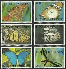 Sao Tome et Principe Papillon Morpho Butterflies Schmetterlinge Mariposas **1990
